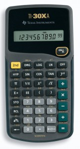 Texas Instruments TI 30Xa scientific calculator