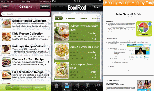 Healthy food apps