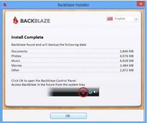 Backblaze installer