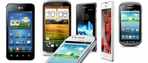 Various 4-inch Android smartphones