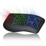Adesso Tru-Form 150 - 3 Color Illuminated Ergonomic Keyboard