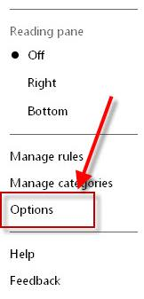 hotmail-options-box