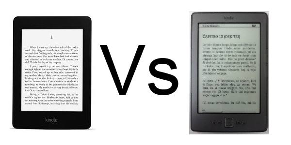 kindle versus paperwhite