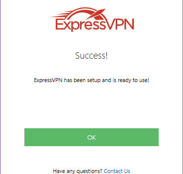 ExpressVPN Software Connected to New York