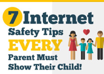 Infographic on Internet safety tips for kids