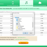 Tenorshare iPhone Data Recovery Import Backup File
