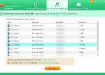 Tenorshare iPhone Data Recovery iTunes Backup Files