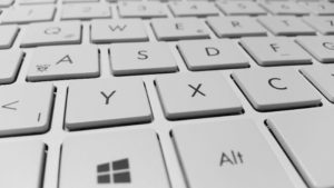 Microsoft Windows Keyboard with White Computer Keys via pexels.com