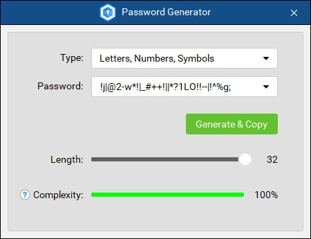 Cyclonis Password Manager - Password Generator