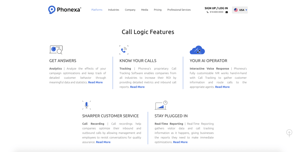 Call Logic Features