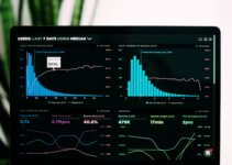 graphs of DNS performance analytics on a laptop screen
